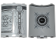 Part No: 30562pb043  Name: Cylinder Quarter 4 x 4 x 6 with SW Droid Escape Pod Pattern 4 Outside and Round Window and Star Destroyer Pattern Inside (Stickers) - Set 75136