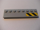 Part No: 30586pb01R  Name: Plate, Modified 2 x 8 with Door Rail with Black and Yellow Danger Stripes on Right Pattern (Sticker) - Set 7633