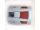 Part No: 30602pb030  Name: Slope, Curved 2 x 2 Lip, No Studs with Dark Red Panels, Black Grille, SW Republic Insignia Pattern