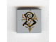 Part No: 3068bpb0091  Name: Tile 2 x 2 with Groove with Coat of Arms Beauxbatons Pattern