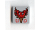 Part No: 3068bpb0093  Name: Tile 2 x 2 with Groove with Coat of Arms Durmstrang Stag Pattern