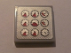 Part No: 3068bpb0316  Name: Tile 2 x 2 with Groove with 9 Gauges Pattern (Sticker) - Set 8285