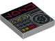 Part No: 3068bpb0378  Name: Tile 2 x 2 with Groove with Aurebesh Characters 'LOCK' and Key Controls Pattern