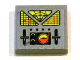 Part No: 3068bpb0627  Name: Tile 2 x 2 with Groove with Control Panel Pattern (Sticker) - Set 7692