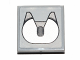 Part No: 3068bpb0854  Name: Tile 2 x 2 with Groove with Trailer Hitch Pattern (Sticker) - Set 30191