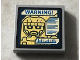 Part No: 3068bpb0935  Name: Tile 2 x 2 with Groove with Sentinel Face and Blue 'WARNING! on Screen Pattern (Sticker) - Set 76022