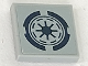 Part No: 3068bpb1178  Name: Tile 2 x 2 with Groove with Dark Blue SW Republic Logo Pattern (Sticker) - Set 75046