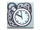 Part No: 3070bpb075  Name: Tile 1 x 1 with Groove with Pocket Watch and Chain Pattern