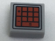 Part No: 3070bpb111  Name: Tile 1 x 1 with Groove with Red Calculator Buttons Pattern