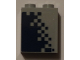 Part No: 3245cpb076R  Name: Brick 1 x 2 x 2 with Inside Stud Holder with Dark Blue Pixelated Gradient Pattern Model Right Side (Sticker) - Set 60197