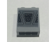 Part No: 3245cpb135  Name: Brick 1 x 2 x 2 with Inside Stud Holder with Starry Window Pattern (Sticker) - Set 10221
