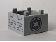 Part No: 35700pb05  Name: Container, Box 2 x 2 x 1 - Top Opening with Black SW Imperial Logo and Aurebesh Characters 'CARGO' Pattern