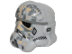 Part No: 36039pb01  Name: Minifigure, Headgear Helmet SW Stormtrooper, Raised Forehead Type 2, Tan and Dark Bluish Gray Dirt Stains Pattern