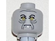 Part No: 3626bpb0238  Name: Minifigure, Head Male Angry Black Eyebrows, Yellow Eyes and Gray Wrinkles Pattern - Blocked Open Stud