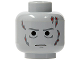 Part No: 3626bpb0310  Name: Minifigure, Head Male Scars Gray Left & Right, Gray Eyebrows Pattern (Darth Vader) - Blocked Open Stud