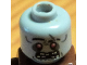 Part No: 3626cpb0436  Name: Minifigure, Head Alien with Red Eyes with White Pupils, Missing Teeth Pattern (Zombie) - Hollow Stud