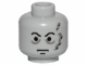 Part No: 3626cps7  Name: Minifigure, Head Male Scars Gray Left, Black Eyebrows Pattern (Darth Vader original) - Hollow Stud