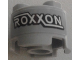 Part No: 3941pb18  Name: Brick, Round 2 x 2 with Axle Hole with 'ROXXON' Pattern (Sticker) - Set 76067