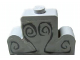 Part No: 4088pb01  Name: Brick, Modified 1 x 4 x 2 Center Stud Top with Dark Gray Engravings Pattern (Sticker) - Set 4766