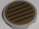 Part No: 4150pb044  Name: Tile, Round 2 x 2 with Black Vent on Gold Background Pattern (Sticker) - Set 5984