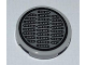 Part No: 4150pb089  Name: Tile, Round 2 x 2 with Oval Grills Pattern (Sticker)