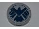 Part No: 4150pb115  Name: Tile, Round 2 x 2 with Dark Blue SHIELD Logo Pattern (Sticker) - Set 6868