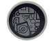 Part No: 4150pb118  Name: Tile, Round 2 x 2 with SW Millennium Falcon Circuitry Pattern (Sticker)