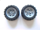 Part No: 41896c03  Name: Wheel 43.2mm D. x 26mm Technic Racing Small, 3 Pin Holes with Black Tire 68.7 x 34 R (41896 / 61480)