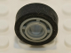 Part No: 42610c02  Name: Wheel 11mm D. x 8mm with Center Groove with Black Tire 14mm D. x 6mm Solid Smooth (42610 / 50945)