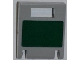 Part No: 4346pb25  Name: Container, Box 2 x 2 x 2 Door with Slot and Dark Green Rectangle Pattern (Sticker) - Set 8097