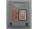 Part No: 4346pb35  Name: Container, Box 2 x 2 x 2 Door with Slot and Orange Circuitry Pattern (Sticker) - Set 70317