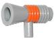 Part No: 4349pb001  Name: Minifigure, Utensil Loudhailer / Megaphone with Orange Stripe Pattern