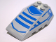 Part No: 43712pb026  Name: Wedge 6 x 4 Triple Curved with Blue Stripes Pattern (Stickers) - Set 7868