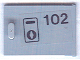 Part No: 4533pb005  Name: Container, Cupboard 2 x 3 x 2 Door with '102' & Keyhole Pattern (Sticker) - Set 6597