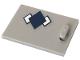Part No: 4533pb019  Name: Container, Cupboard 2 x 3 x 2 Door with Dark Blue Argyle Pattern (Sticker) - Set 41232
