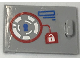 Part No: 4533pb020  Name: Container, Cupboard 2 x 3 x 2 Door with Keyhole and Padlock Pattern (Sticker) - Set 41231