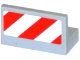 Part No: 4865pb060L  Name: Panel 1 x 2 x 1 with Red and White Danger Stripes Pattern Model Left Side (Sticker) - Set 60079