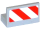 Part No: 4865pb060R  Name: Panel 1 x 2 x 1 with Red and White Danger Stripes Pattern Model Right Side (Sticker) - Set 60079