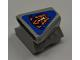 Part No: 50943pb04  Name: Vehicle, Air Scoop Engine Top 2 x 2 with Orange Flames on Blue Background Pattern (Sticker) - Set 8197