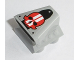 Part No: 50943pb10  Name: Vehicle, Air Scoop Engine Top 2 x 2 with Red Skull with White Stripes Pattern (Sticker) - Set 8864