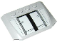 Part No: 52031pb065  Name: Wedge 4 x 6 x 2/3 Triple Curved with SW AT-TE Armor Plates Pattern (Sticker) - Set 75019