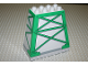 Part No: 54010pb01  Name: Duplo, Brick 3 x 6 x 5 Slope 75 Quadruple with Green Girders Pattern