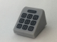 Part No: 54200pb083  Name: Slope 30 1 x 1 x 2/3 with Dark Bluish Gray Telephone Keypad Pattern