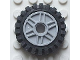 Part No: 56902c02  Name: Wheel 18mm D. x 8mm with Fake Bolts and Shallow Spokes with Black Tire Offset Tread (56902 / 3483)
