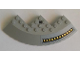 Part No: 58846pb19L  Name: Brick, Round Corner 10 x 10 with Slope 33 Edge, Axle Hole, Facet Cutout with SW Outlet Nozzles Pattern Model Left Side (Sticker) - Set 75042