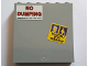 Part No: 59349pb146  Name: Panel 1 x 6 x 5 with 'NO DUMPING SPRINGFIELD CIVIL CODE 77621' and 'WANTED FOR TREASON' Pattern (Stickers) - Set 71016
