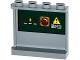 Part No: 60581pb056L  Name: Panel 1 x 4 x 3 with Side Supports - Hollow Studs with Switches, Red Light and Danger Sign on Dark Green Background Pattern on Inside (Sticker) - Set 70735