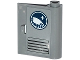Part No: 60657pb003  Name: Door 1 x 3 x 3 Right - Open Between Top and Bottom Hinge with Arctic Explorer Logo and Vents Pattern (Sticker) - Set 60035