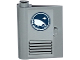 Part No: 60658pb003  Name: Door 1 x 3 x 3 Left - Open Between Top and Bottom Hinge with Arctic Explorer Logo and Vents Pattern (Sticker) - Set 60035