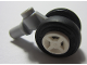Part No: 61483c02  Name: Technic Pin with Dual Wheels Holder with White Wheels and Black Tires (61483 / 4624 / 3139)